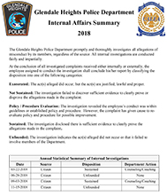 2018 Internal Affairs Report